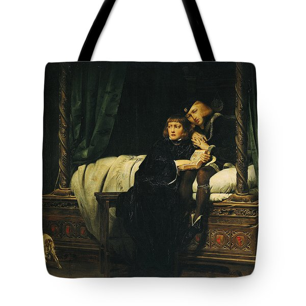 Edward V 1470-83 And Richard, Duke Of York In The Tower Les Enfants Dedouard 1830 Oil On Canvas See Tote Bag by Hippolyte Delaroche