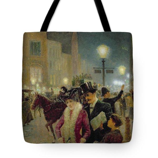 Edwardian London Tote Bag by Eugene Joseph McSwiney