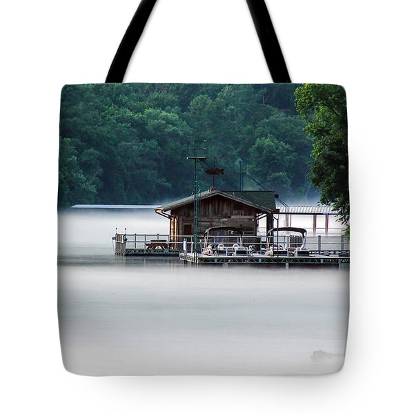 Tote Bag featuring the photograph Eerie Day by Elaine Malott