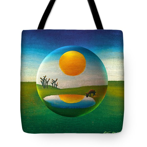 Tote Bag featuring the painting Eeyorb  by Robin Moline