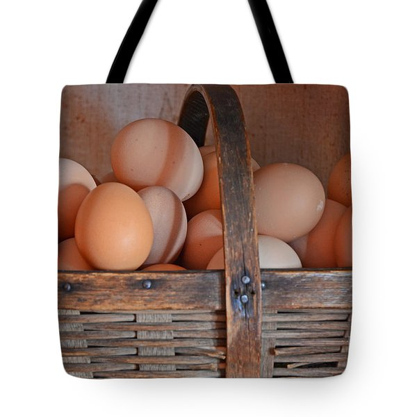 Egg Basket Tote Bag by Mary Carol Story
