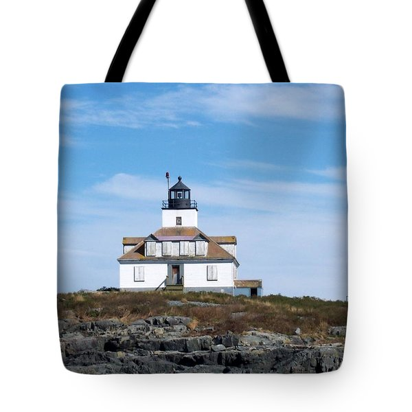 Egg Rock Lighthouse Tote Bag