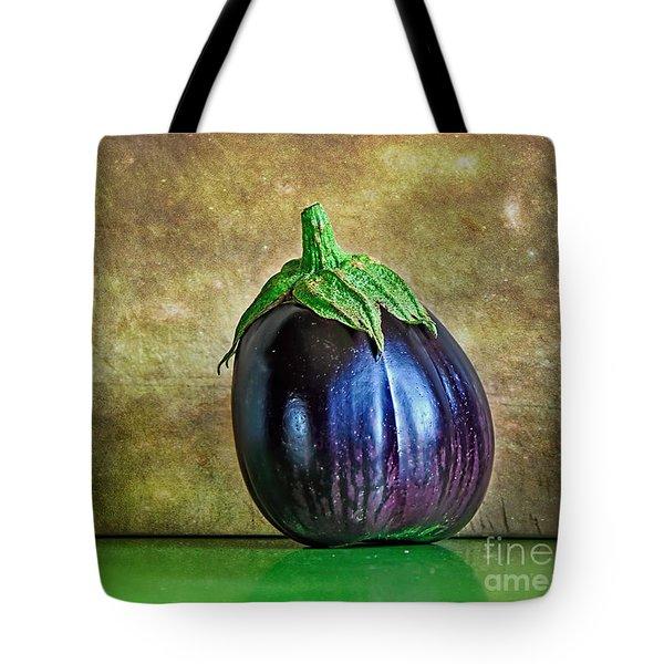 Eggplant Tote Bag by Kaye Menner