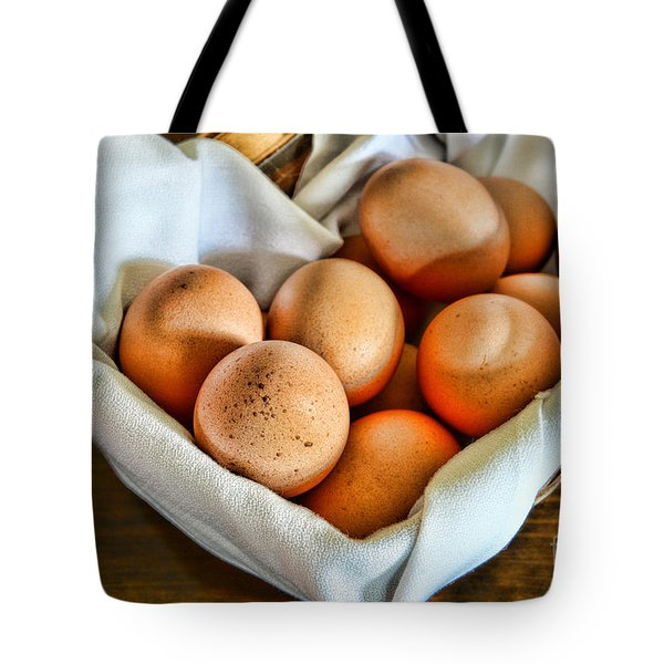 Eggs In A Basket Tote Bag by Paul Ward