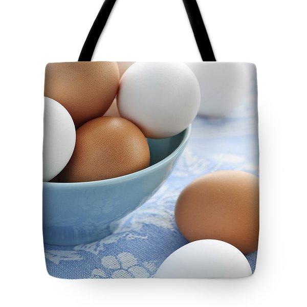 Eggs In Bowl Tote Bag by Elena Elisseeva