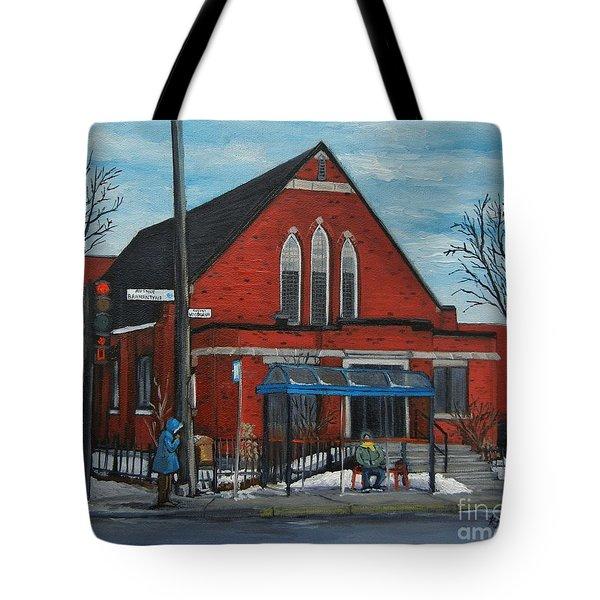 Eglise Baptiste Evangelique De La Grace De Verdun  Tote Bag by Reb Frost