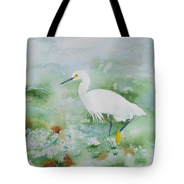 Egret 2 Tote Bag