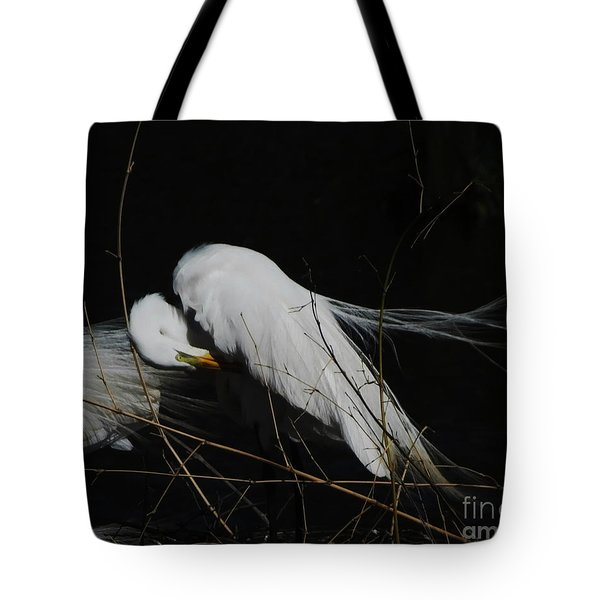 Egret Bird City At Avery Island Louisiana Tote Bag