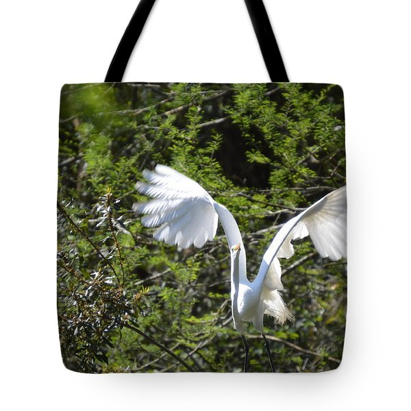 Tote Bag featuring the photograph Taking Off by Judith Morris