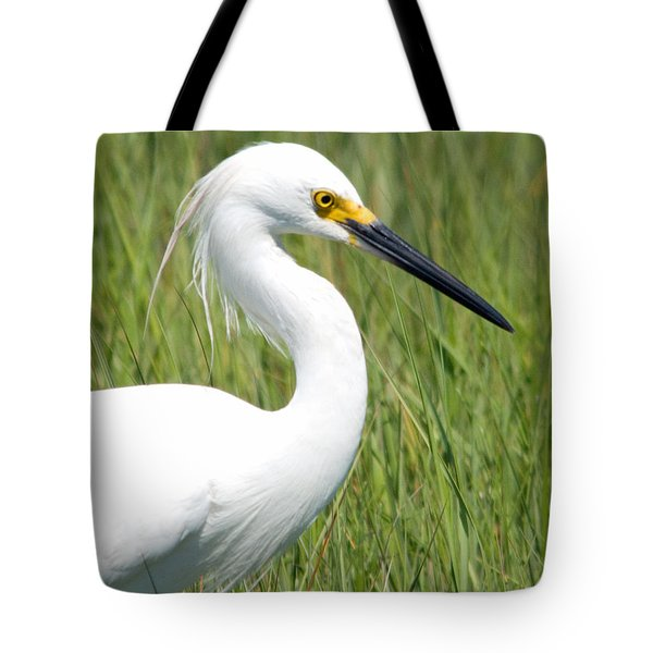 Tote Bag featuring the photograph Egret In The Sound by Greg Graham
