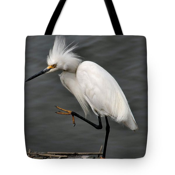 Egret Tote Bag by Roger Becker
