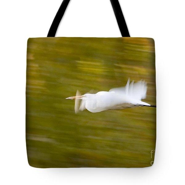 Egret Tote Bag by Steven Ralser