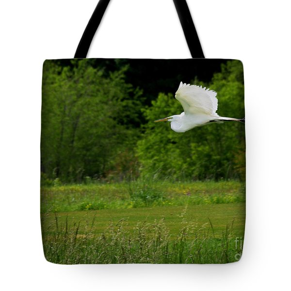Egret's Flight Tote Bag