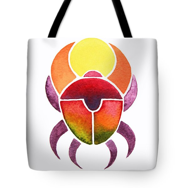 Tote Bag featuring the painting Egyptian Scarab by Elizabeth Lock