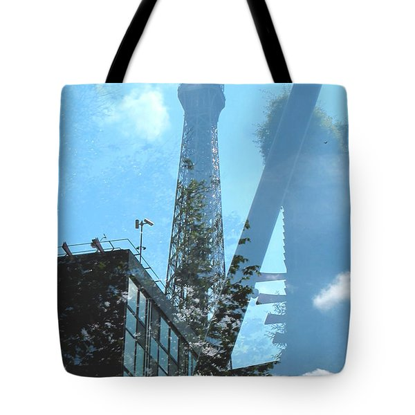 Eiffel Collage Tote Bag