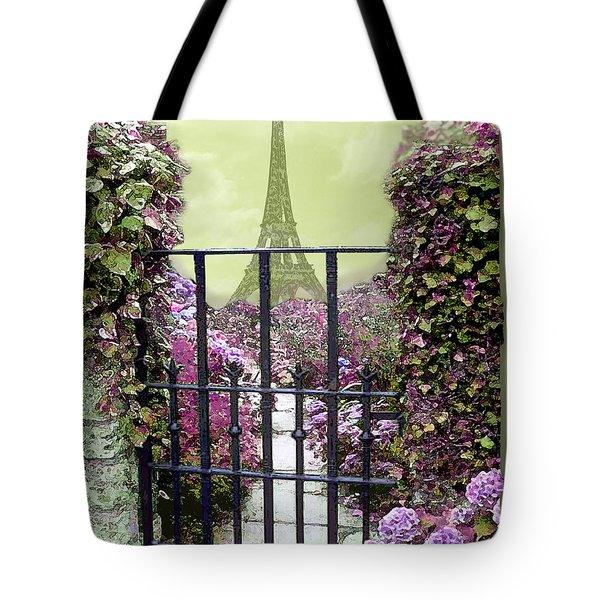 Eiffel Garden Tote Bag