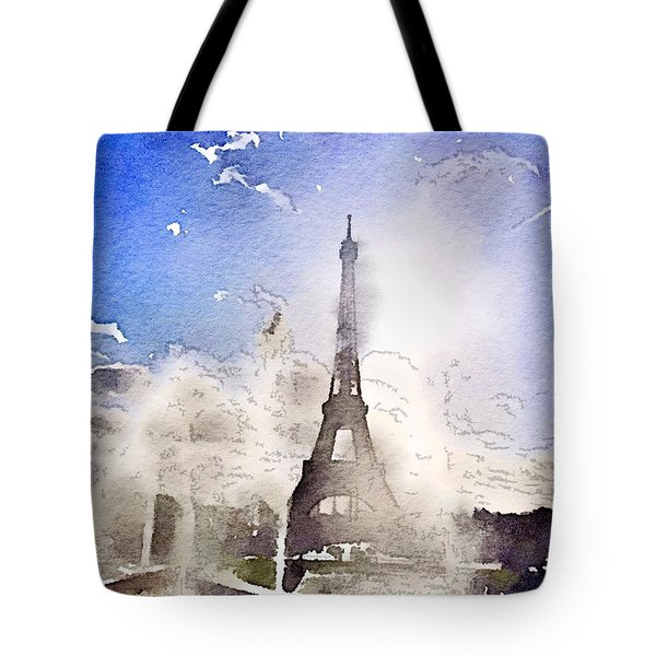 Eiffel During Summer Tote Bag