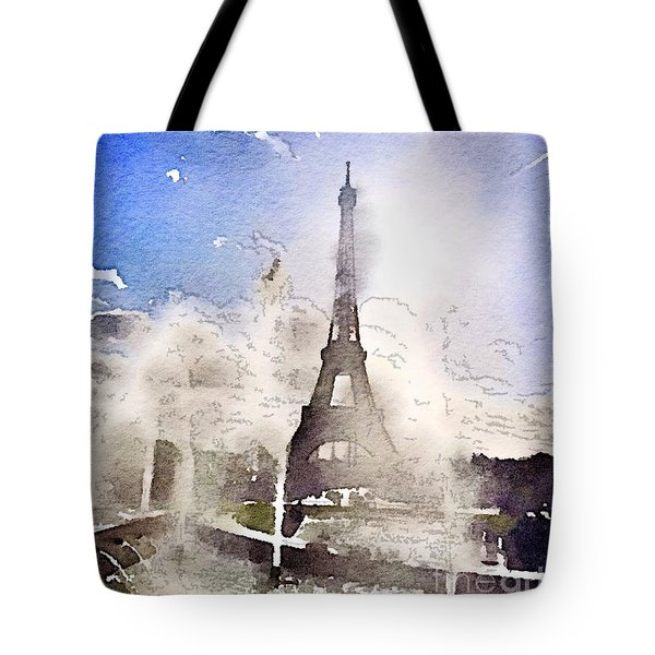 Eiffel During Summer Tote Bag