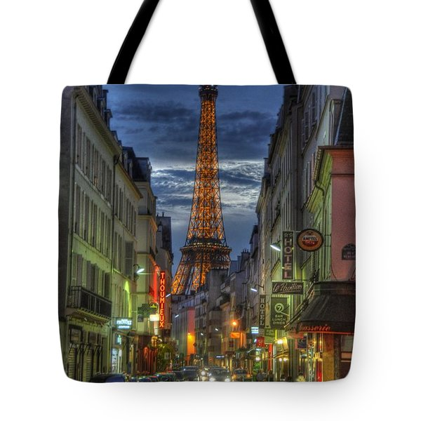 Eiffel Over Paris Tote Bag