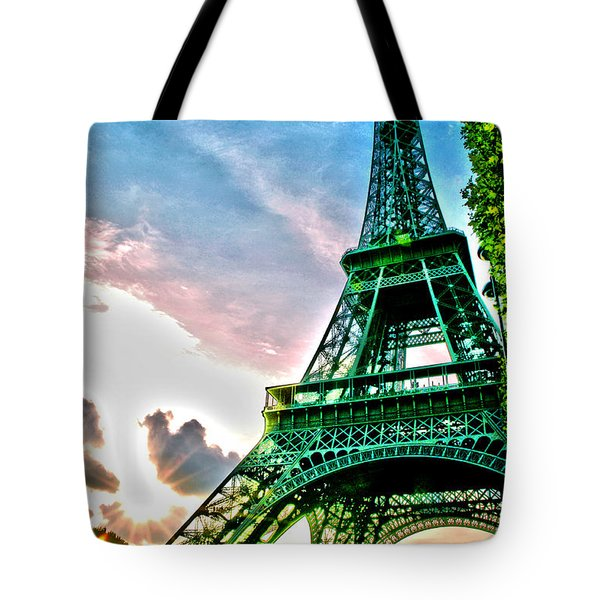 Eiffel Tower 8 Tote Bag