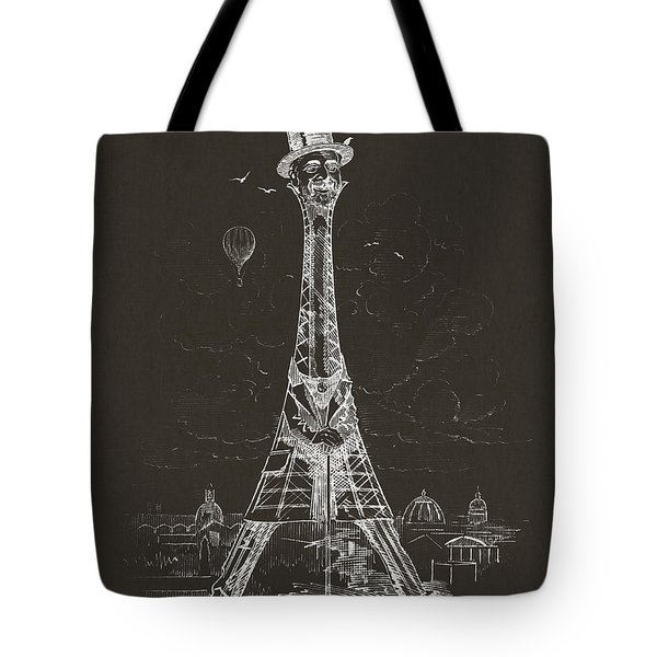 Eiffel Tower Tote Bag by Aged Pixel
