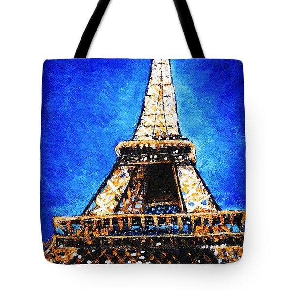 Eiffel Tower Tote Bag by Anastasiya Malakhova