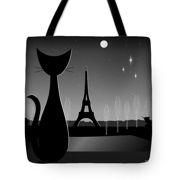 Tote Bag featuring the digital art Eiffel Tower by Donna Mibus