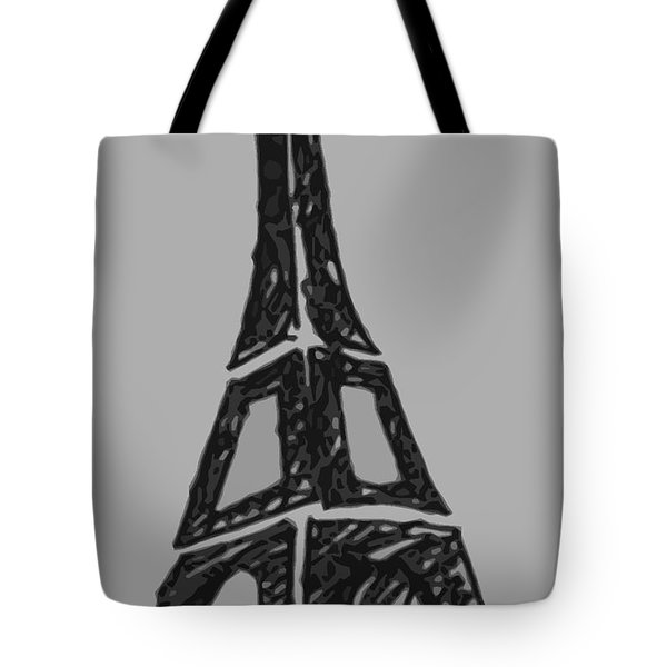 Eiffel Tower Graphic Tote Bag by Robyn Saunders