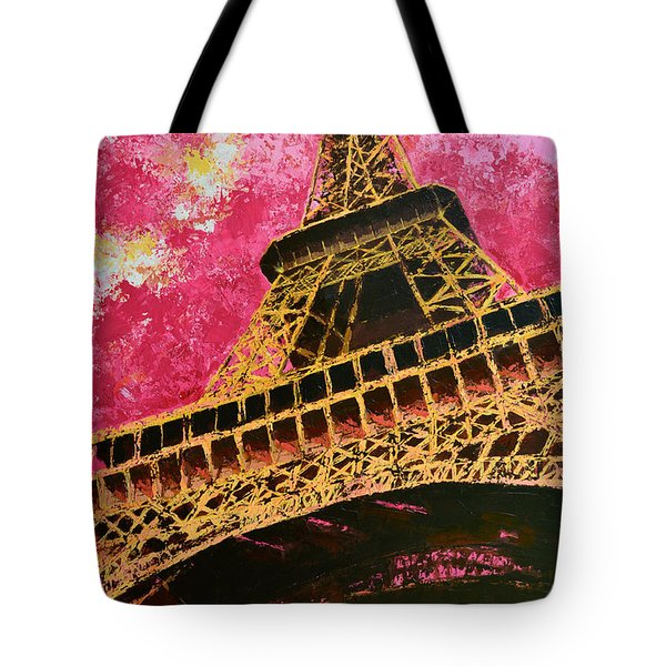 Eiffel Tower Iconic Structure Tote Bag