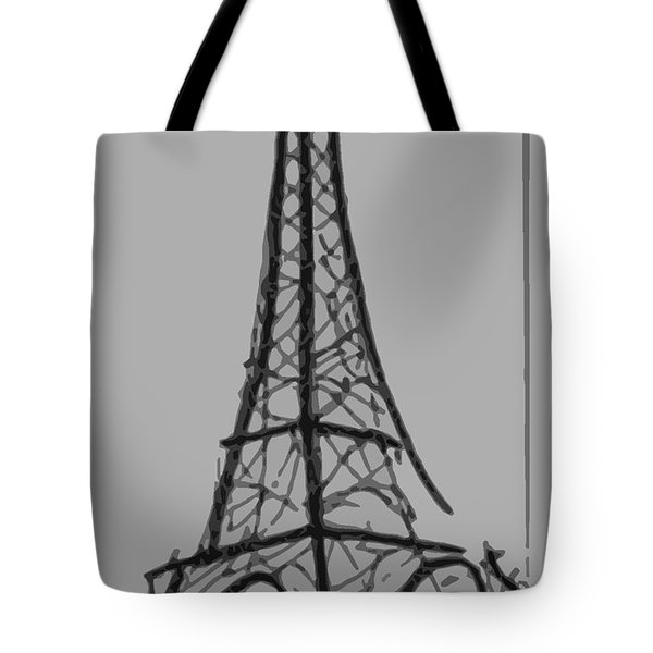 Eiffel Tower Lines Tote Bag