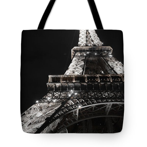 Eiffel Tower Paris France Night Lights Tote Bag