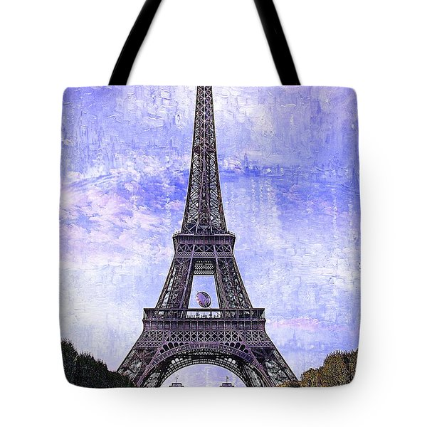 Eiffel Tower Paris Tote Bag by Kathy Churchman