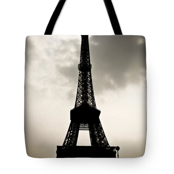Eiffel Tower Silhouette Tote Bag