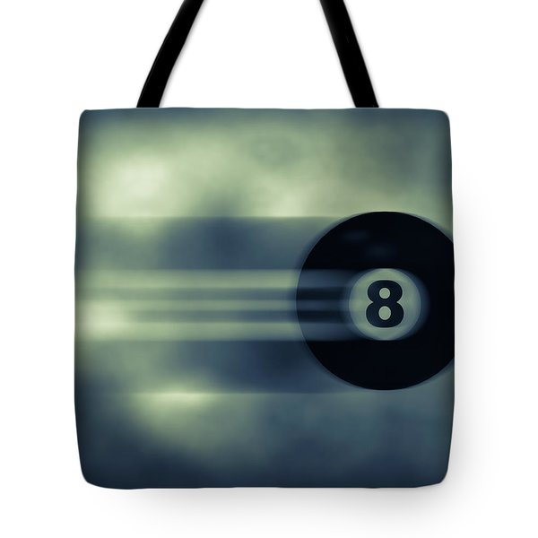 Eight Ball In Motion Tote Bag by Bob Orsillo