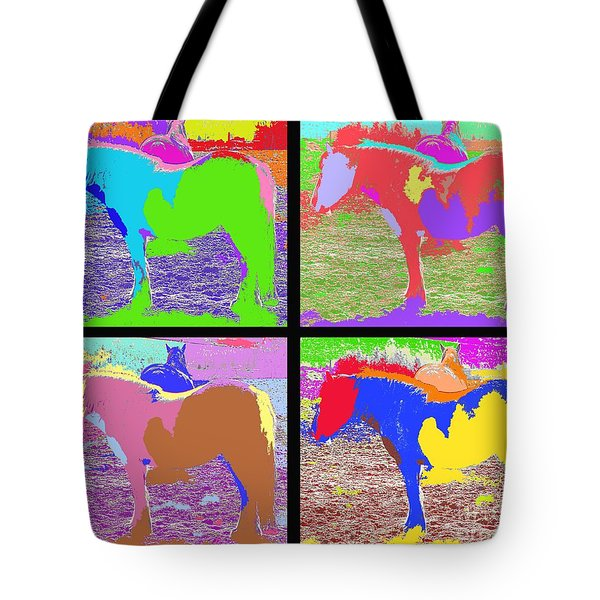 Eight Horses Tote Bag by Patrick J Murphy