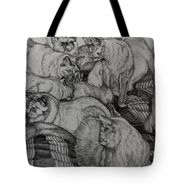 Eight Is Enough Tote Bag by Janet Felts