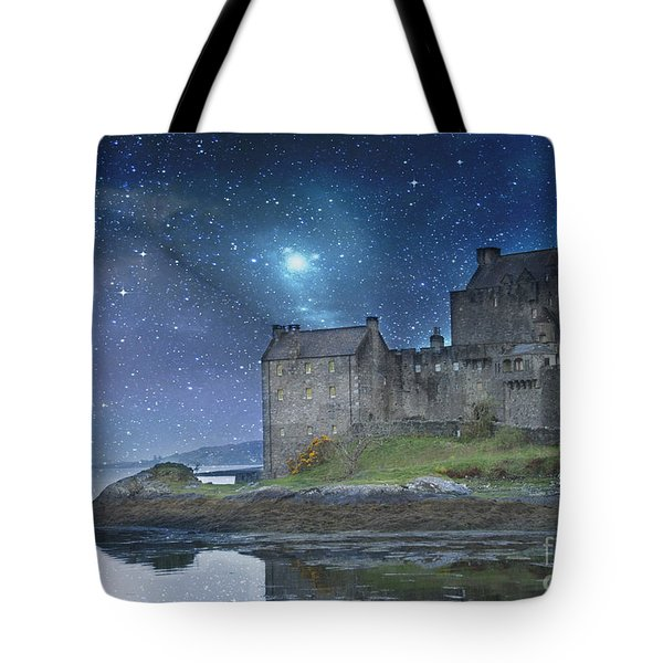 Eilean Donan Castle Tote Bag by Juli Scalzi
