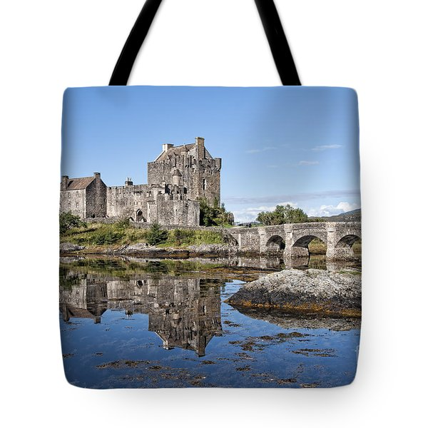 Eilean Donan Castle Reflections Tote Bag
