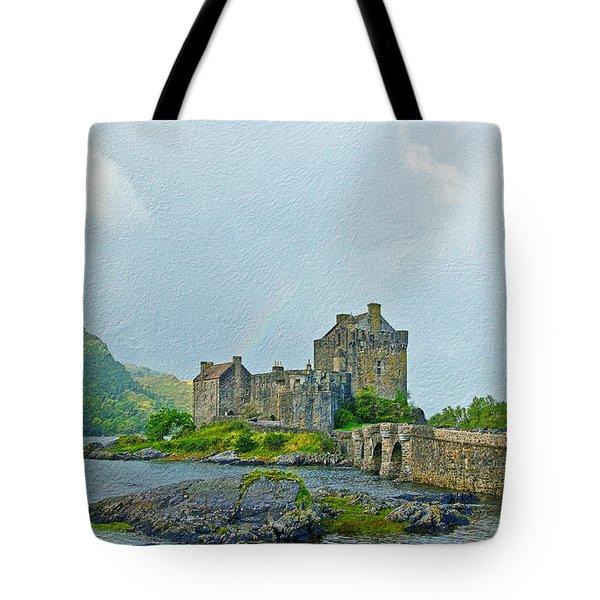 Eilean Donan Castle Textured 2 Tote Bag