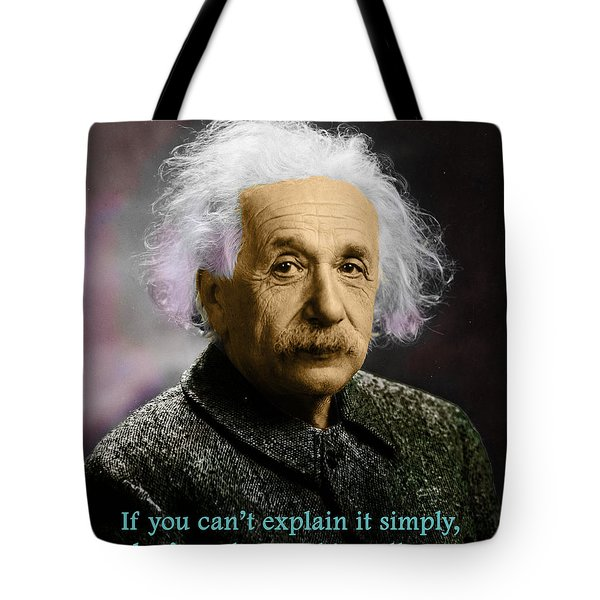 Einstein Explanation Tote Bag