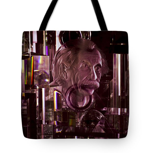 Einstein In Crystal - Purple Tote Bag