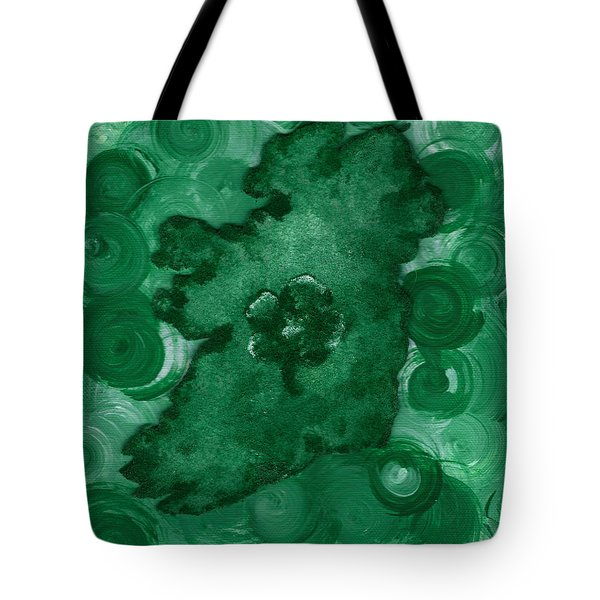 Eire Heart Of Ireland Tote Bag by Alys Caviness-Gober
