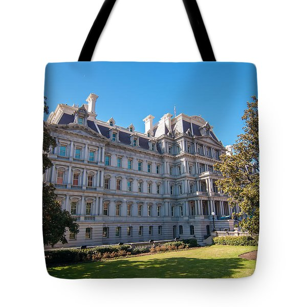 Eisenhower Executive Office Building In Washington Dc Tote Bag