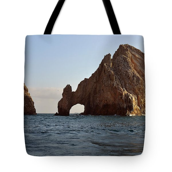 Tote Bag featuring the photograph El Arco De Cabo San Lucas by Christine Till