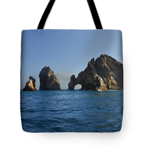 Tote Bag featuring the photograph El Arco - The Arch - Cabo San Lucas by Christine Till