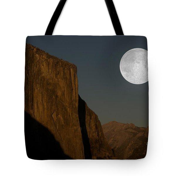 El Capitan And Half Dome Tote Bag by Mark Newman