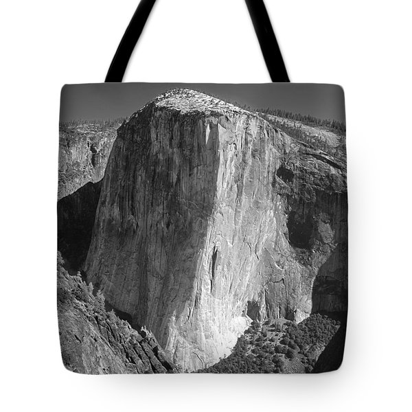 106663-el Capitan From Higher Cathedral Spire, Bw Tote Bag