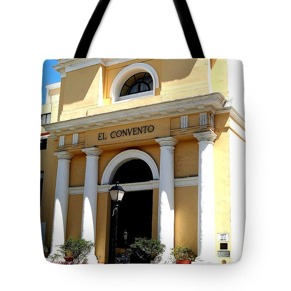 El Convento Hotel Tote Bag by The Art of Alice Terrill