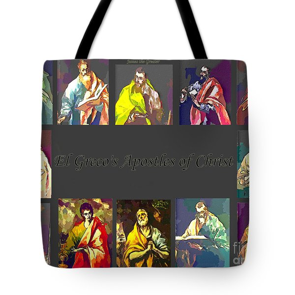 El Greco's Apostles Of Christ Tote Bag by Barbara Griffin