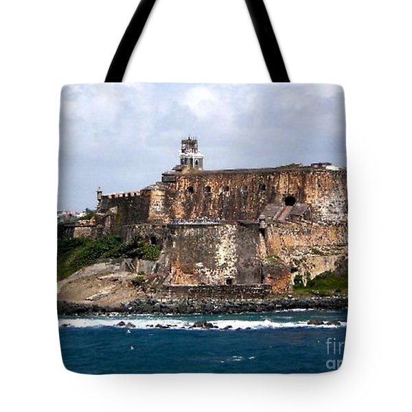 Tote Bag featuring the painting El Moro by Holly Martinson